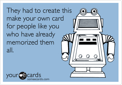They had to create this