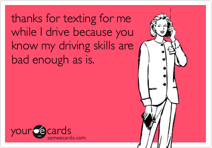 thanks for texting for me