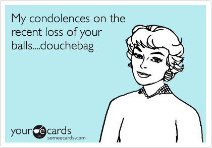 My condolences on the