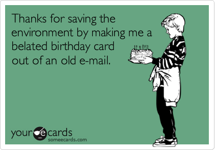 Thanks for saving the