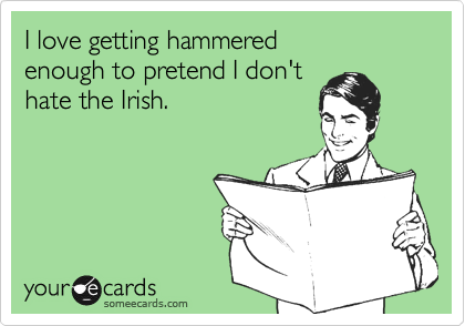 I love getting hammered 