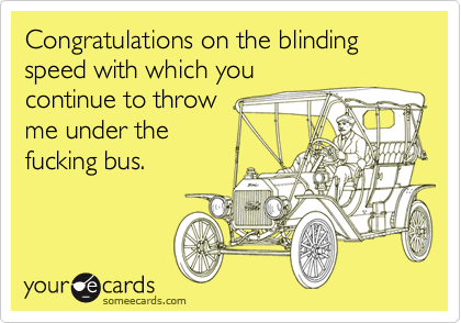 Congratulations on the blinding speed with which you