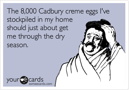 The 8,000 Cadbury creme eggs I've stockpiled in my home