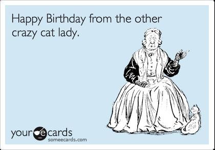 happy birthday cat funny. Funny Birthday Ecard: Happy