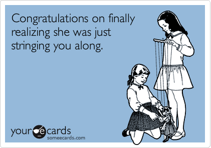 Congratulations on finally