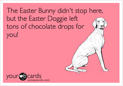 The Easter Bunny didn't stop here, but the Easter Doggie left