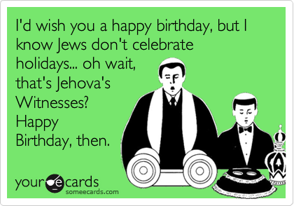 Happy Birthday Shiksa Yenta Funny Jewish Card