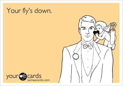 Your fly's down.