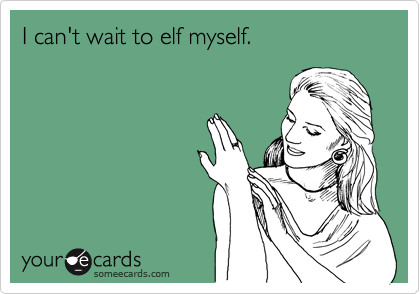 I can't wait to elf myself.