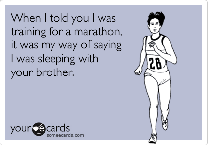 When I told you I was