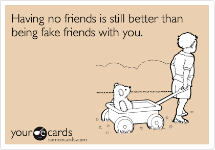 No longer friends ecards