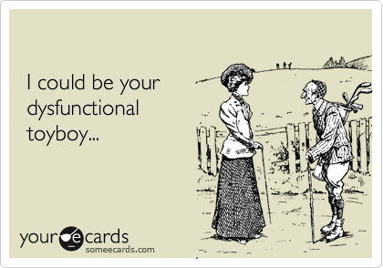I could be your  dysfunctional  toyboy...