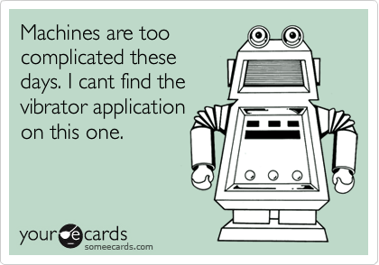 Machines are too complicated these days. I cant find the vibrator application on this one.