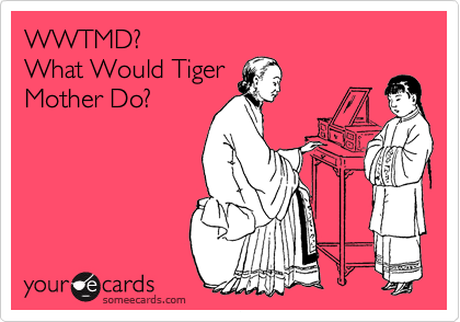 WWTMD? What Would Tiger Mother Do?