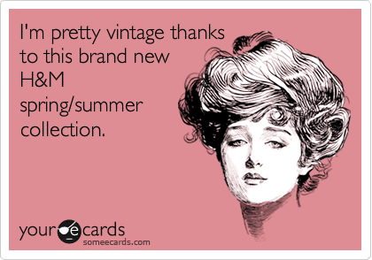 I'm pretty vintage thanks to this brand new H&M spring/summer collection.