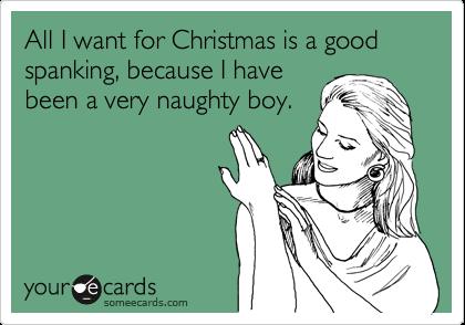 I want a spanking