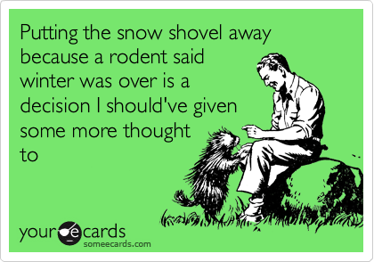 Putting the snow shovel away because a rodent said winter was over is a decision I should've given some more thought to