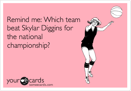 Remind me: Which team beat Skylar Diggins for  the national  championship?