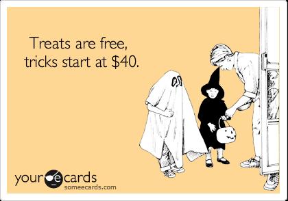 Treats are free,   tricks start at %2440.