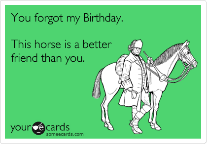 1304385341292_5765634 you forgot my birthday this horse is a better friend than you