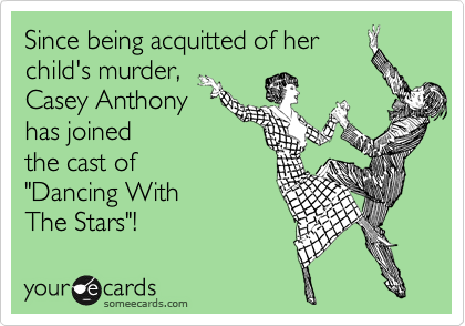 "Since being acquitted of her child's murder, Casey Anthony has joined  the cast of ""Dancing With  The Stars""!"