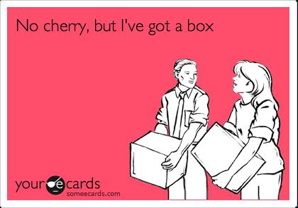 No cherry, but I've got a box