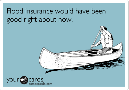 Flood insurance would have been good right about now.