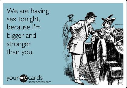 Have sex tonight