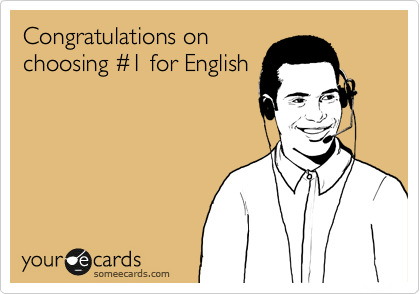 Congratulations on choosing %231 for English