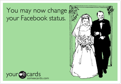 You may now change your Facebook status.