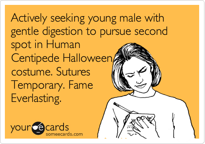 actively seeking young male with gentle digestion to pursue second