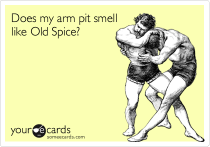 Does my arm pit smell like Old Spice? | Sports Ecard