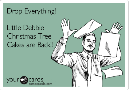 Drop Everything!  Little Debbie Christmas Tree Cakes are Back!!
