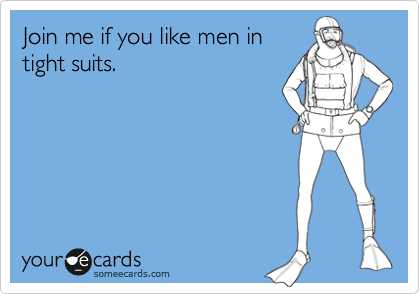 Join me if you like men in tight suits.