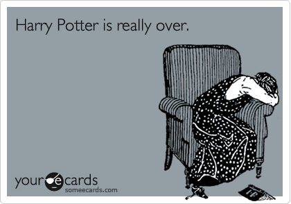 Harry Potter is really over.