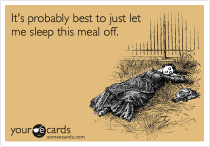someecards.com - It's probably best to just let me sleep this meal off.