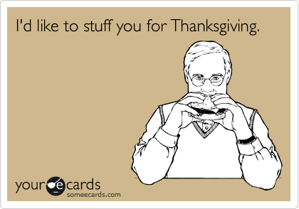 I'd like to stuff you for Thanksgiving.