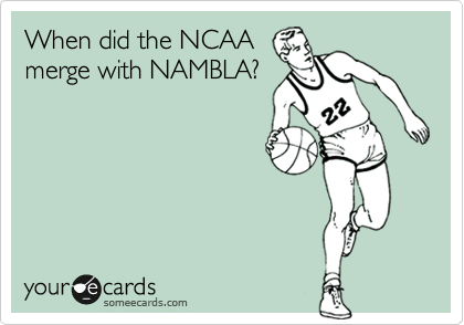When did the NCAA merge with NAMBLA?