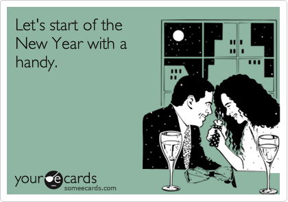 Let's start of the New Year with a handy.