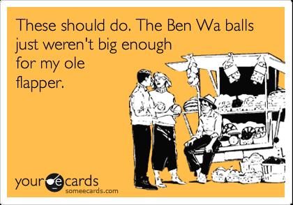 Using ben wah balls