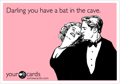 Darling you have a bat in the cave.