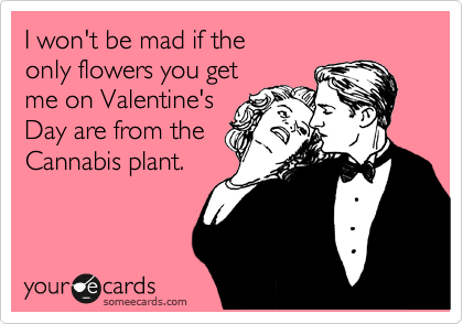 I won't be mad if the only flowers you get  me on Valentine's Day are from the Cannabis plant.