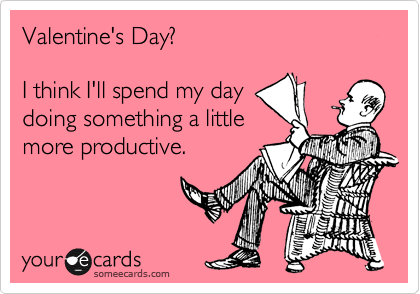 Valentine's Day?  I think I'll spend my day doing something a little more productive.