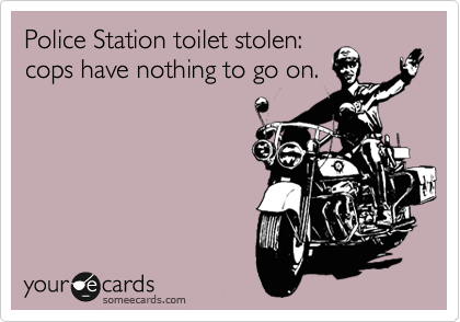 Police Station toilet stolen:  cops have nothing to go on.