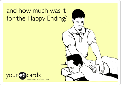 and how much was it for the Happy Ending?