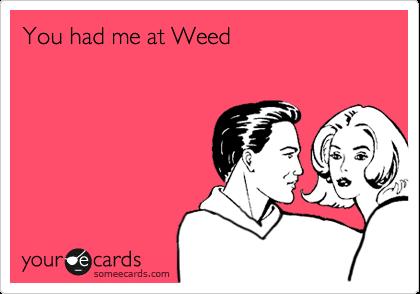 You had me at Weed