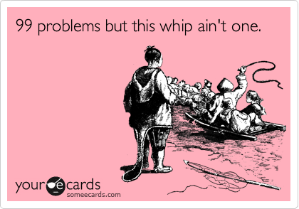 99 problems but this whip ain't one.