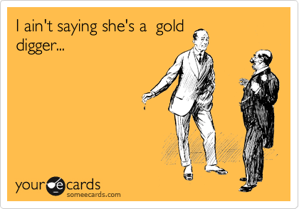 I ain't saying she's a  gold digger...