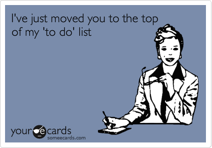 I've just moved you to the top of my 'to do' list