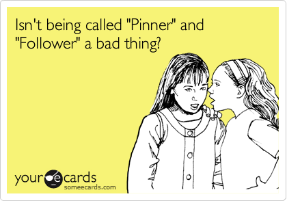 "Isn't being called ""Pinner"" and ""Follower"" a bad thing?"